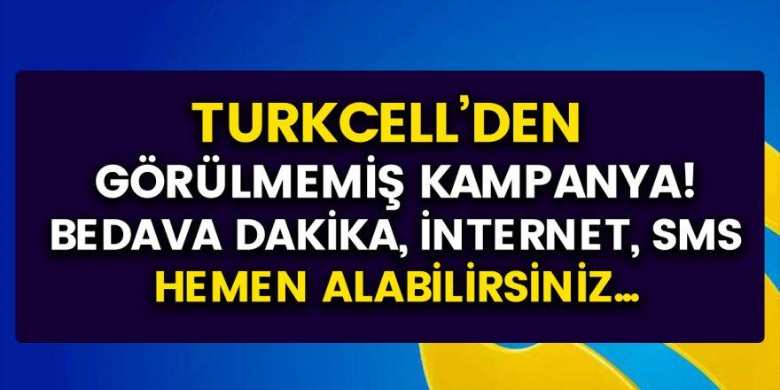Turkcell'den Görülmemiş Kampanya! Bedava Dakika, SMS ve İnternet Paketleri...