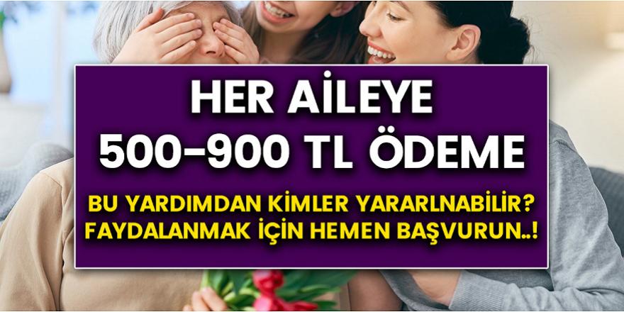 Bakanlıktan Müjdeli Haber Geldi! Her Aileye 500-900 TL arası yardım ödemesi yapılacak! Şartlar neler, kimler başvuru yapabilir? Hemen alabilirsiniz…