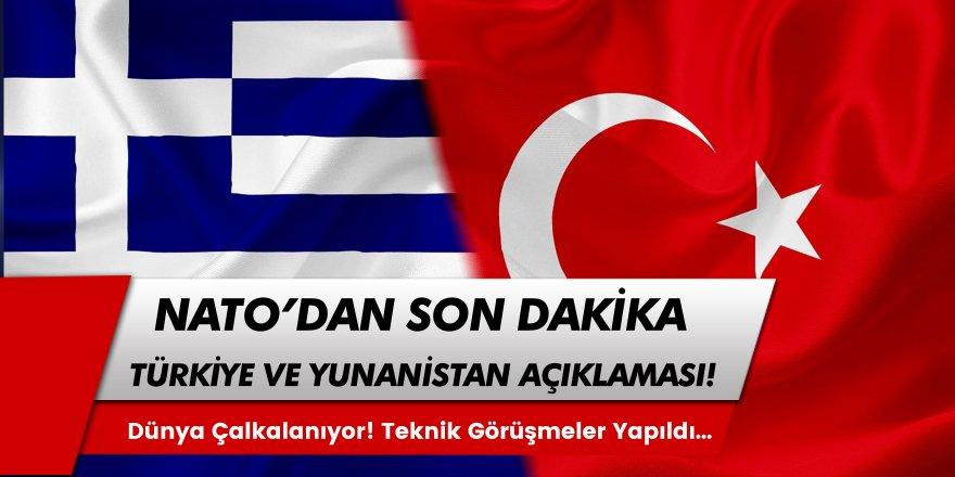 Beklenen Açıklama Geldi! NATO'dan Türkiye-Yunanistan Açıklaması Görüşüldü...