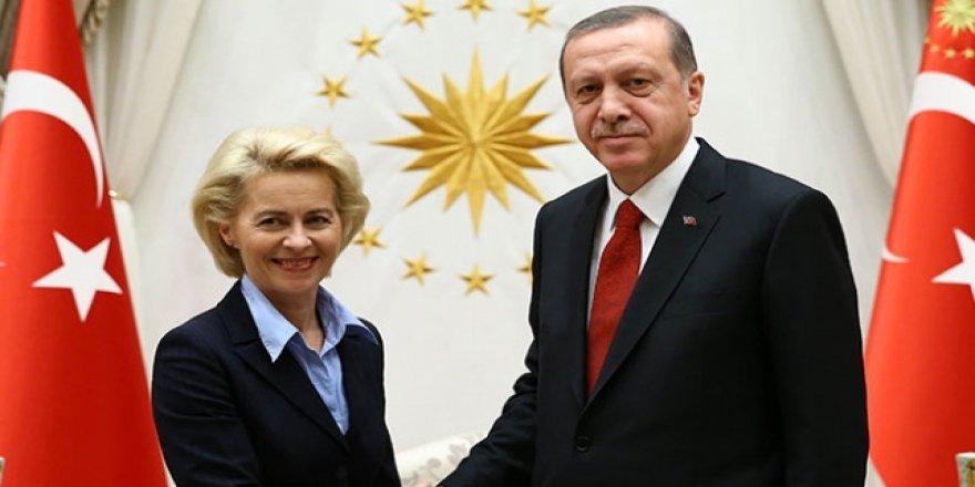 Video konferans görüşmesi için Cumhurbaşkanı Erdoğan, AB Komisyon Başkanı ile görüştü!