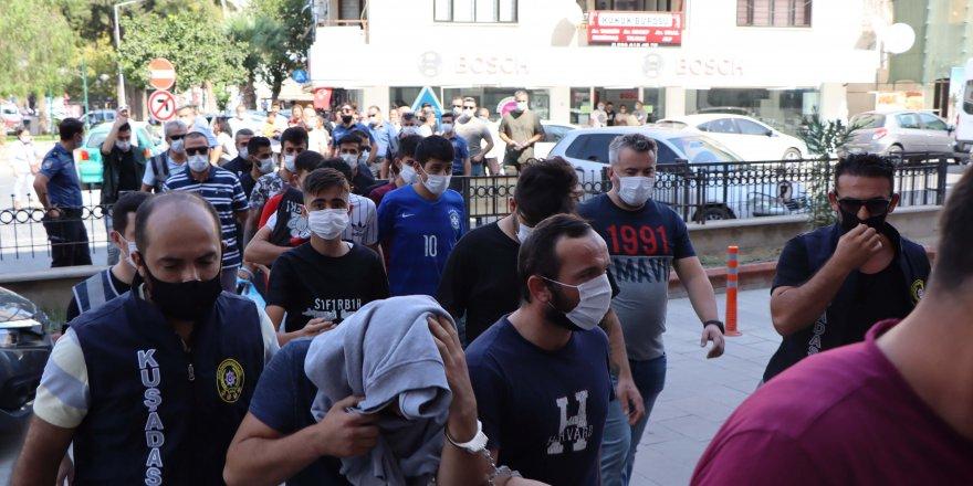 Aydın'da 10 Hırsızlık şüphelisinin duruşması 12 saat sürdü
