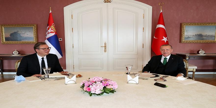 Başkan Erdoğan Vahdettin köşkünde Sırbistan Cumhurbaşkanını kabul etti