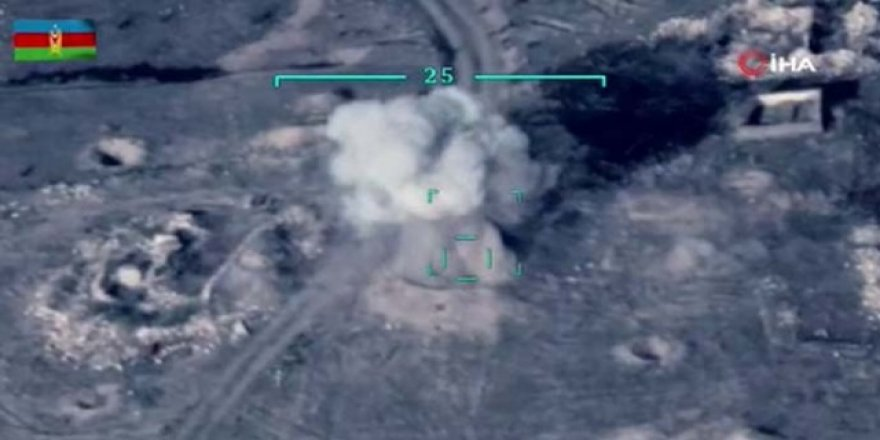 Cephe hattında Ermenistan silahlı kuvvetlerine ait askeri hedefleri imha edildi!