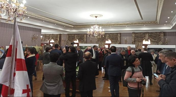 Gürcistan'da Hocalı Katliamı'nın 28'nci yıl dönümüne yönelik anma töreni