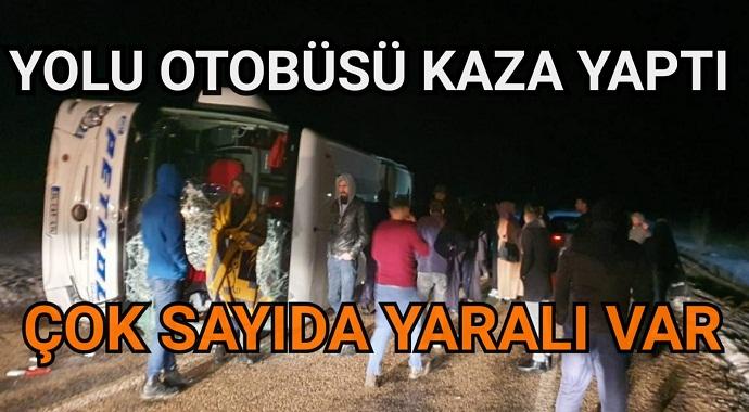 Kayseri'de yolcu otobüsü devrildi çok sayıda yaralılar var!