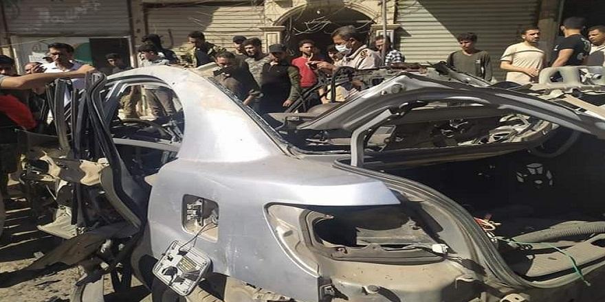 Suriye Afrin'de bomba yüklü araç patladı!