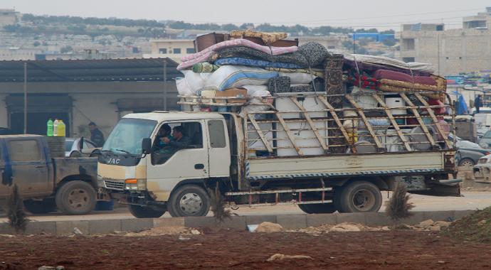 İdlib'den göç devam ediyor