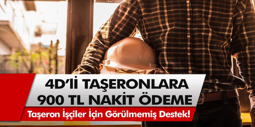 Taşeron İşçiler İçin Görülmemiş Destek! Başvuru Yapan 4D'li Taşeronlar 900 TL Nakit Ödeme Alacak…