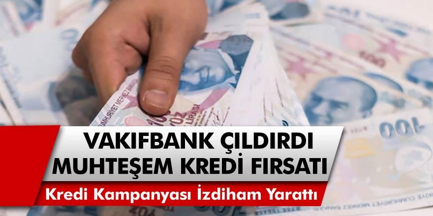Vakıfbank'ın Kredi Kampanyası İzdiham Yarattı! Aylık 184 TL Taksitle Hemen Kredinizi Alabilirsiniz…