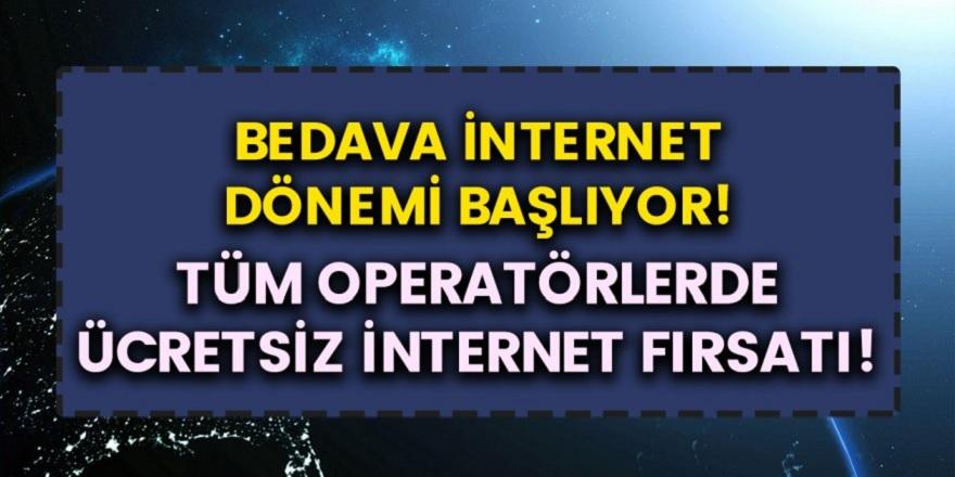 Tüm Operatörler Anlaştı, Vodafone, Turkcell, Turk Telekom'da Ücretsiz Bedava İnternet Dağıtılıyor! Ücretsiz İnternet İçin Başvuru Yapmanız Yeterli!