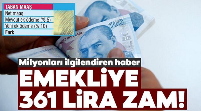 Emekliye güzel haber 361 lira ek ödeme yapılacak  İşte tüm detaylar...