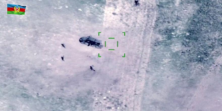 Azerbaycan ordusu tarafından Ermenistan ordusuna ait hedefler yok edildi