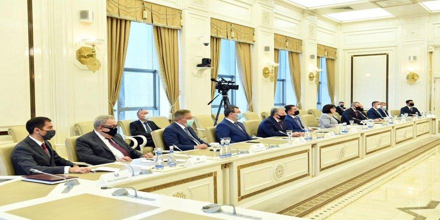 Türkiye Büyük Millet Meclis Başkanı Mustafa Şentop, Azerbaycan Milli Meclis Başkanı Sahiba Gafarova ile görüştü