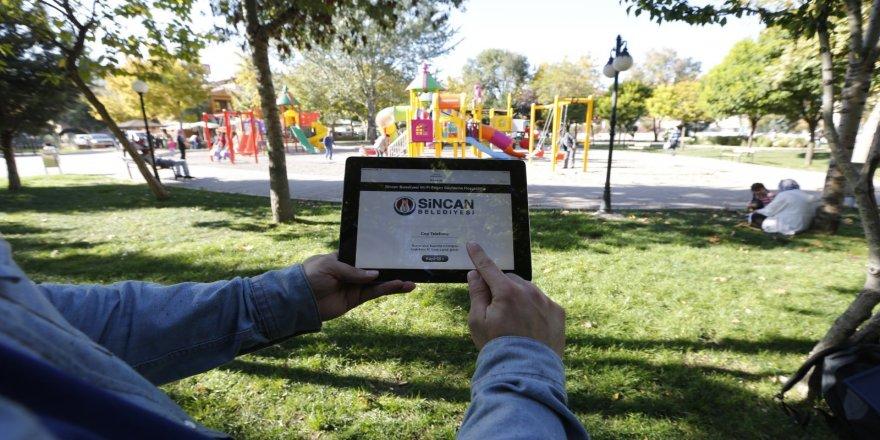 120 noktada, Sincan Belediyesinden ücretsiz  wi-fi hizmeti