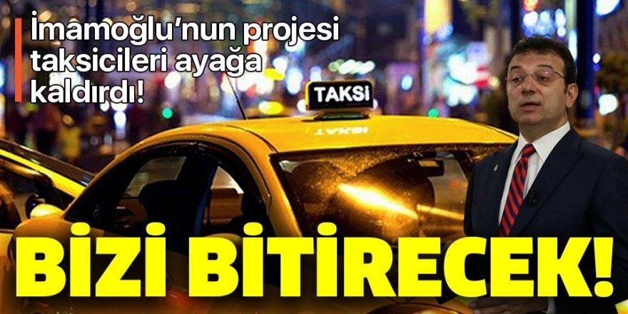Taksiciler, İBB'ye isyan etti