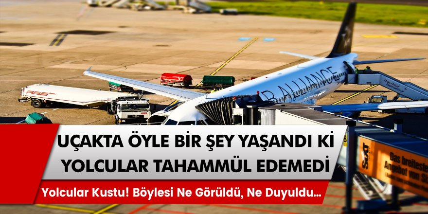Uçakta Öyle Bir Olay Yaşandı Ki, Yolcular Tahammül Edemeyip Kustu! Böylesi Ne Duyuldu, Ne Görüldü…