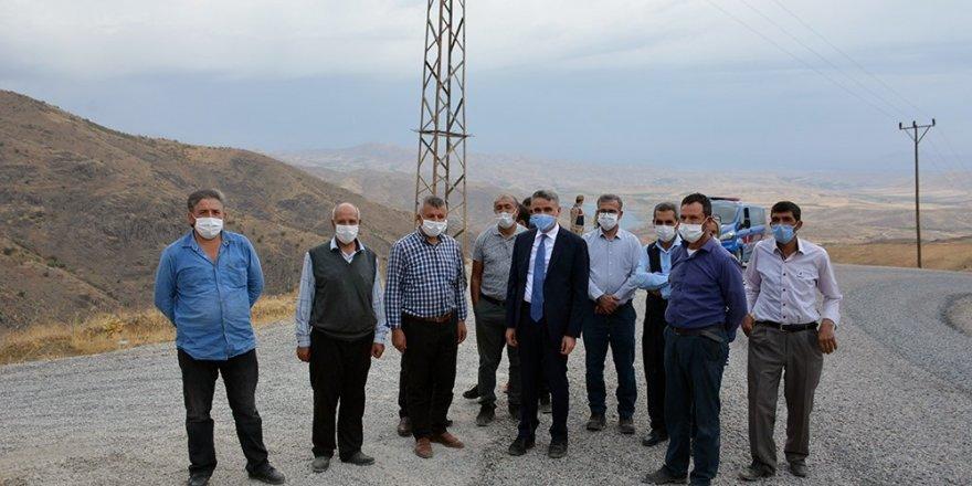 Malatya'nın Kamıştaş Mahallesin'de, deprem konutları için düşünülen alanlar incelendi