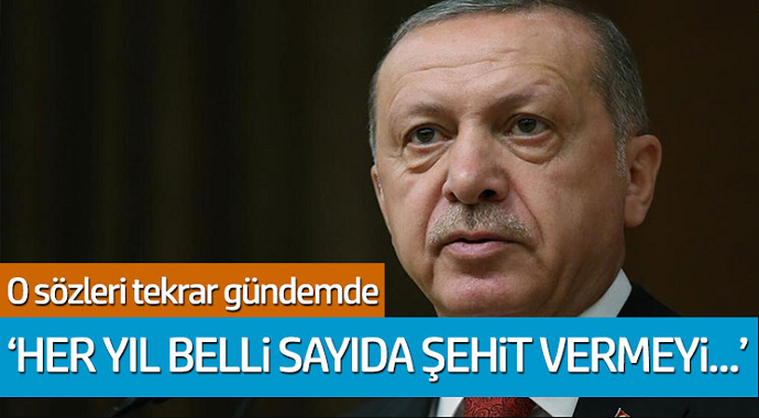 Tayyip Erdoğan'ın o sözlere tekrar gündem: 'Her yıl belli sayıda şehit vermeyi...'