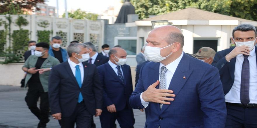 İçişleri Bakanı Süleyman Soylu, güvenlik toplantısına katılmak üzere Gaziantep'e geldi