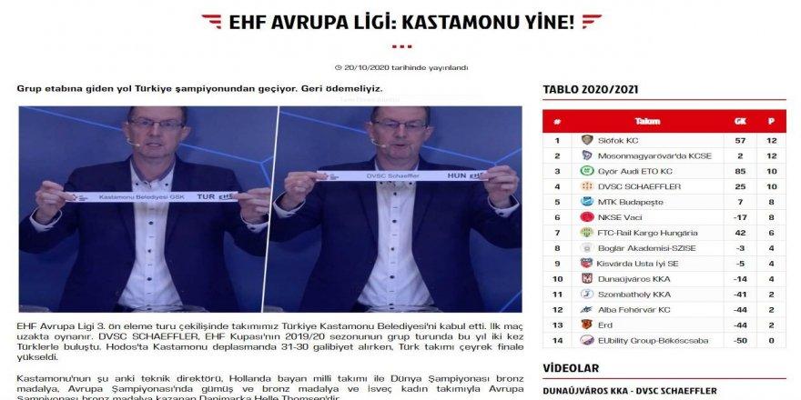Avrupa Ligi'nde, Kastamonu Belediyespor'un rakipleri belirlendi