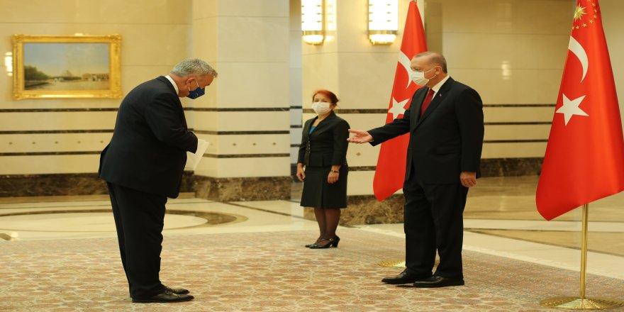 Büyükelçisi Jürgen Schulz, Cumhurbaşkanı Erdoğan'a güven mektubu sundu