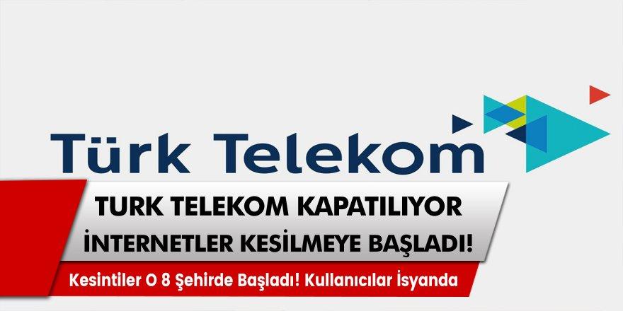 Türk Telekom'dan uyarı geldi: 8 ilde internet kesilecek… İnternet kesintisi büyük paniğe neden oldu!