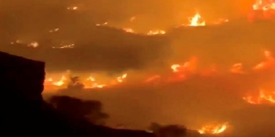 Suudi Arabistan'ın Tanume bölgesinde yangın!