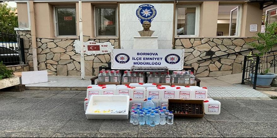 İzmir Bornova'da sahte içki satan kokoreçci gözaltına alındı