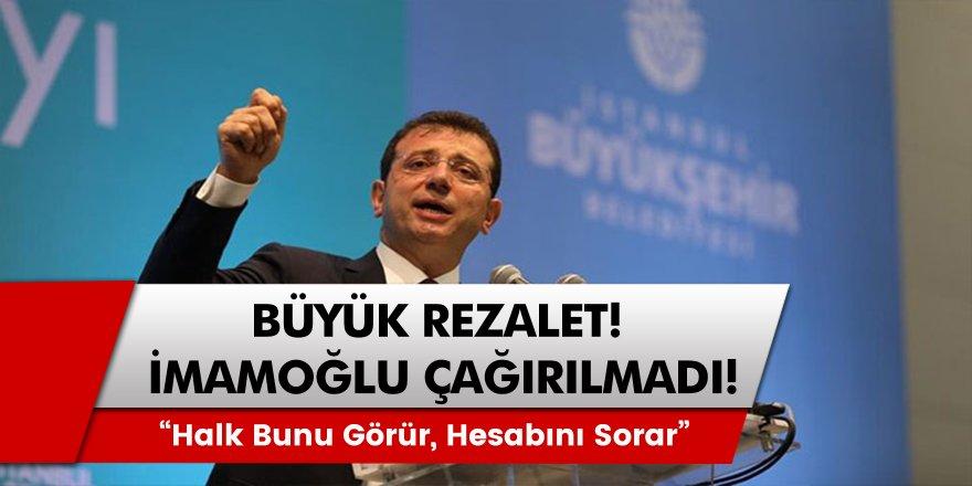 İstanbul'daki Covid – 19 görüşmelerine İmamoğlu çağrılmadı! '' Halk bunu görür, hesabını sorar… ''