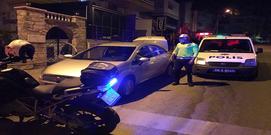 Alkollü sürücü İzmir polisinden kaçarken Kuşadası polisine yakalandı