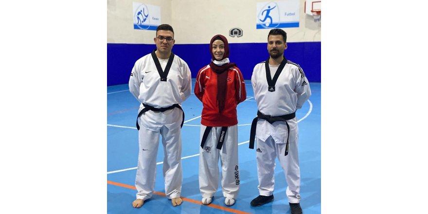 Taekwondocuların, kuşak sınavı yoğun katılımla gerçekleşti