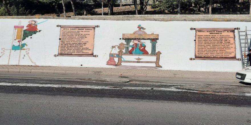 Diyarbakır merkez Sur ilçesinde, duvarlar tarihi motiflerle süslendi