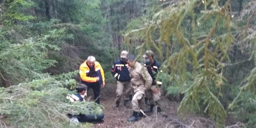 Artvin'in Yusufeli ilçesinde, ormanda kaybolan yaşlı adam, jandarma tarafından bulundu