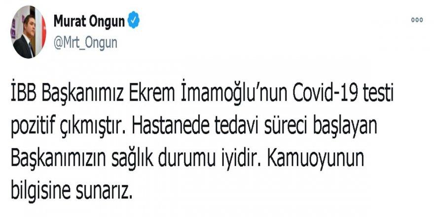 Başkan Ekrem İmamoğlu, kovid - 19'a yakalandı