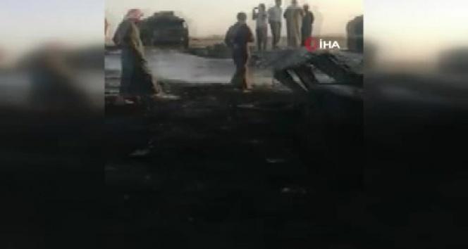 Suriye'nin Cerablus ilçesine balistik füzeler ile dün akşam saldırı yapıldı