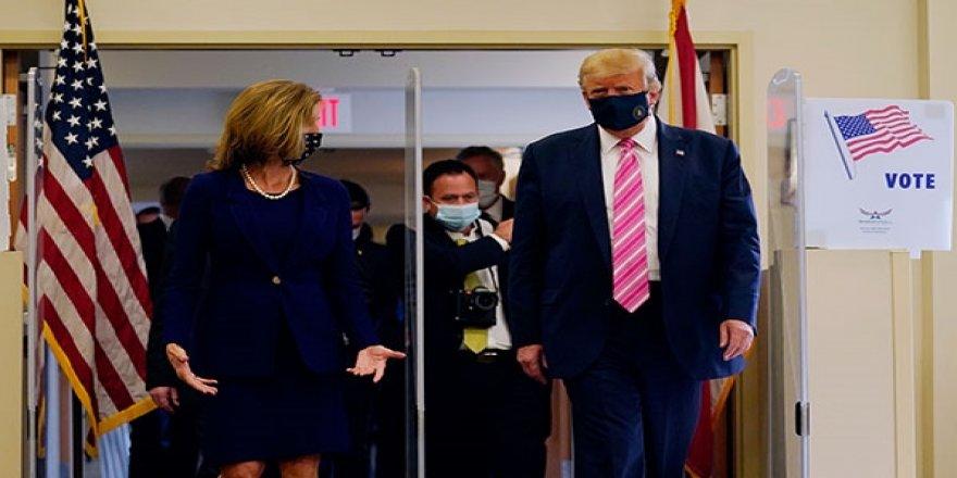 Donald Trump, 3 Kasım'da yapılacak başkanlık seçimleri için oyunu kullandı