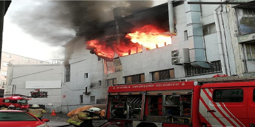 İstanbul Kağıthane'de, iş merkezinde yangın!