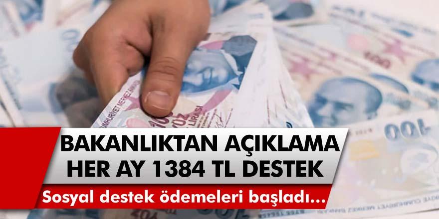 Aile Çalışma ve Politikalar Bakanı Selçuk Her Ay 1384 TL Destek Verileceğini Açıkladı! Sosyal Destek Ödemeleri Başladı…