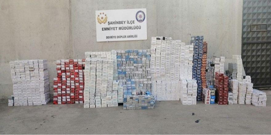 Gaziantep Emniyeti, 12 bin 960 paket kaçak sigara ele geçirdi