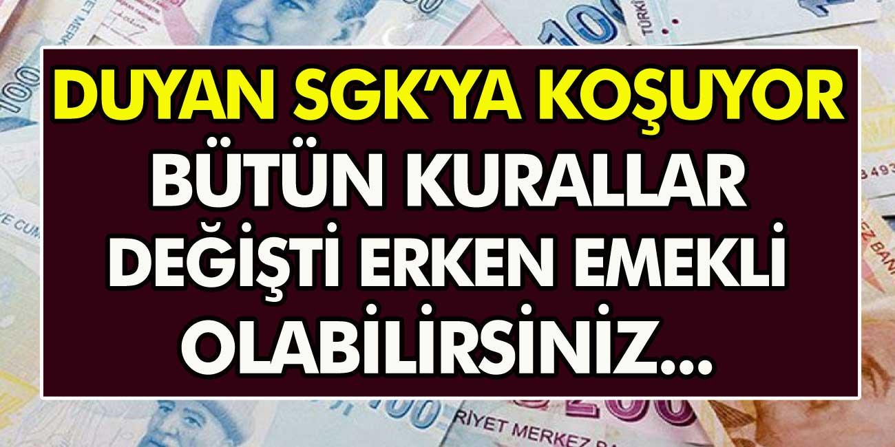 Vatandaşlar SGK'ya koşuyor: Tüm kurallar değişti! hemen başvuru yaparak erken emekli olabilirsiniz…