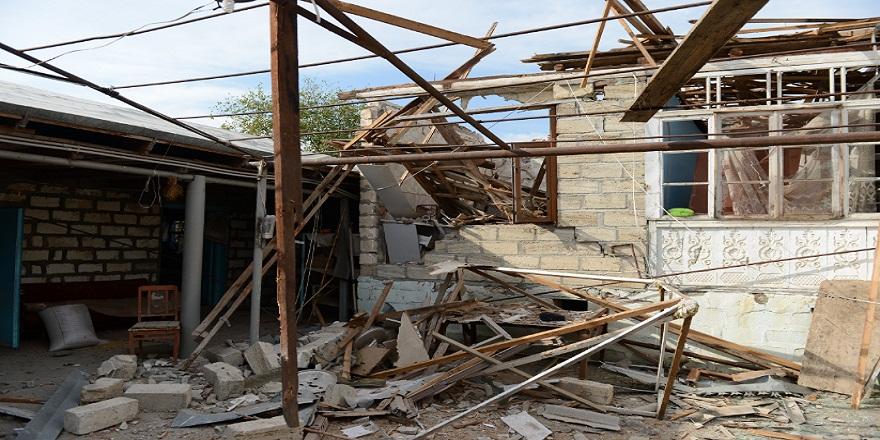"""Terter bölgesinde bulunan Gazyan köyüne """"Günde 100 mermi düşüyor"""""""