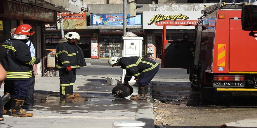 Gaziantep'de, tüpte unutulan demlik yangına sebep oldu