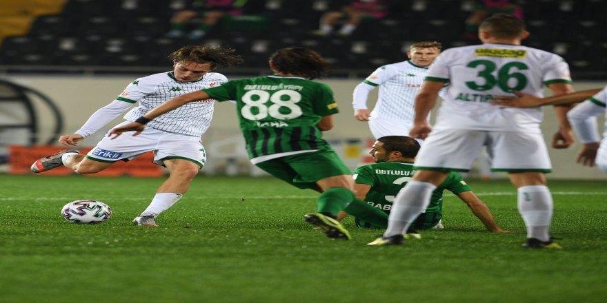 Bursaspor, ligin ilk 7 haftalık dilimde topu rakibe bıraktı