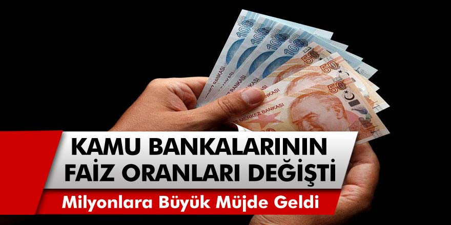 Kamu Bankaları'ndan müjde! Faiz oranları birden değişti; Ziraat Bankası, Halkbank ve Vakıfbank tarafından taşıt ve konut kredi faiz oran güncellendi…