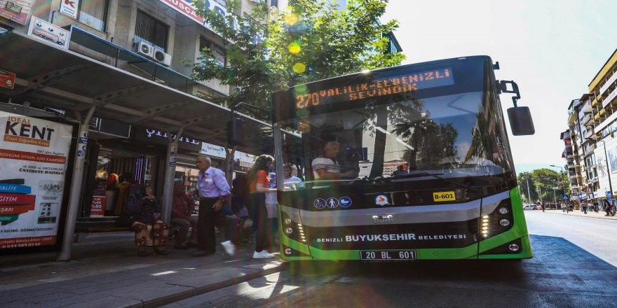 Denizli, Cumhuriyet Bayramı'nda otobüsleri ücretsiz yaptı