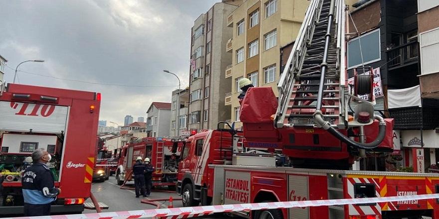 İstanbul Üsküdar'da, korkutan iş yeri yangını!