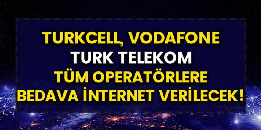 Turkcell, Türk Telekom, Vodafone bedava internet kampanyalarına son noktayı koydu! Tüm vatandaşlara bedava internet dağıtılacak…