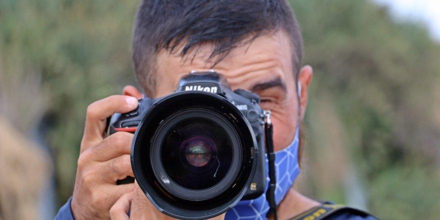 Antalya'da Görme engelli Enes Samed Budak hayatını fotoğraf çekerek kazanıyor, görenler gözlerine inanamıyor