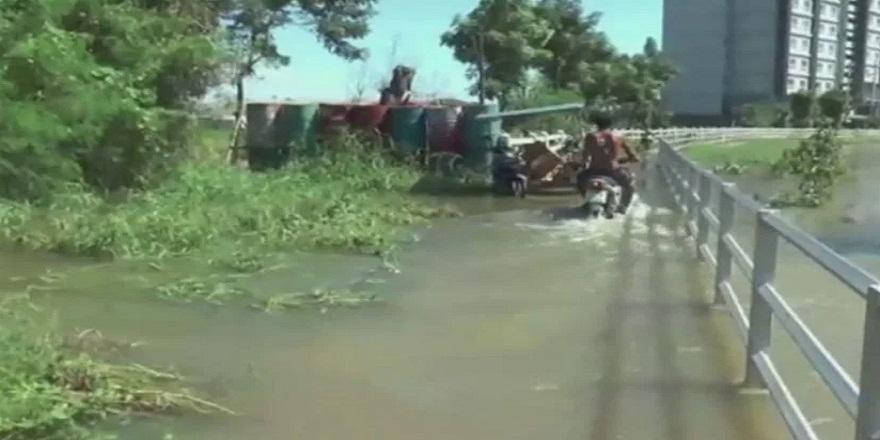 Molave tayfunu bekleyen Tayland sel felaketi ile karşı karşıya!