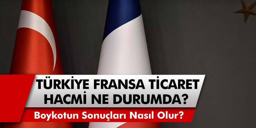 Türkiye Dış Politikada ki Boykotlara Sert Tepki Gösterdi! Türkiye ve Fransa Ticaret Hacimi Ne Durumda? Boykot Sonrası Neler Oluyor?